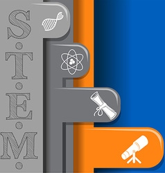 Science and technology symbols vector