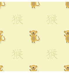 Seamless pattern with chinese zodiac monkey sign vector