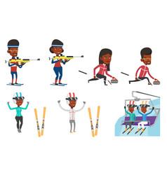 Set of sport characters vector