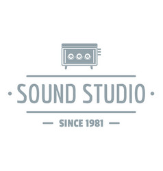speaker sound studio logo simple gray style vector image