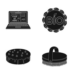 Technology cooking and or web icon in black style vector