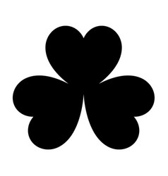 the clover black color icon vector image vector image