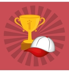 Winner cup trophy vector