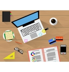 Working place with tools vector