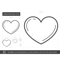 Appreciate sign line icon vector