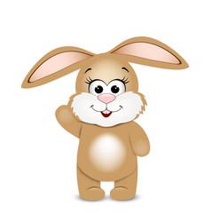 Happy easter funny bunny vector