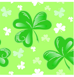 St patrick clover seamless vector