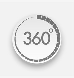 Realistic 360 degrees button for web design vector