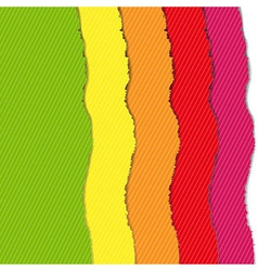 Color torn paper borders set vector