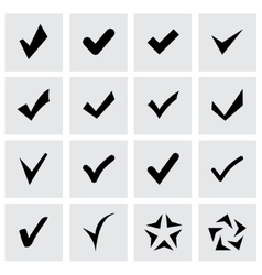 Confirm icon set vector
