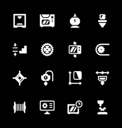 Set icons of 3d printing vector