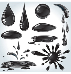 Oil drops set vector