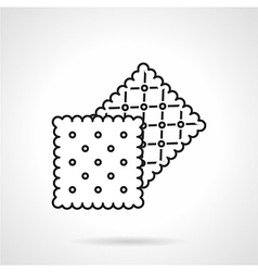 Crisp cookie black line icon vector
