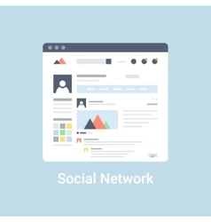 Social network wireframe vector