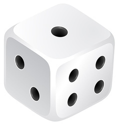 Dice with black dots vector