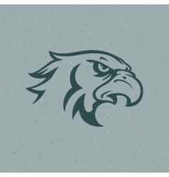 Eagle head logo emblem template vector image