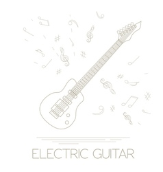 Musical instruments graphic template electric vector