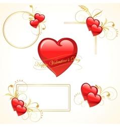 Valentine heart frame vector