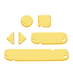 Set of cartoon buttons gui elements vector