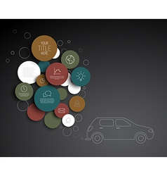 Abstract circles pollution infographic template vector