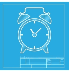 Alarm clock sign White section of icon on vector image vector image