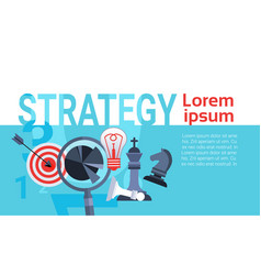 Business concept successful strategy planning new vector