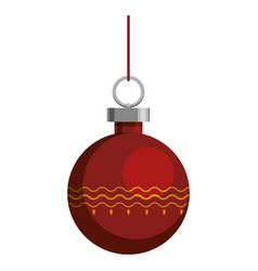 christmas decorative ball vector image vector image