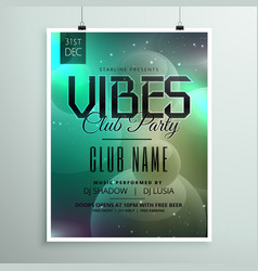 club party music flyer template with invitation vector image vector image