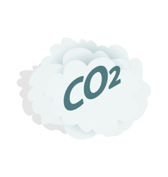 Co2 cloud icon isometric 3d style vector