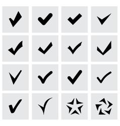 confirm icon set vector image vector image
