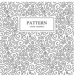 curly seamless pattern vector image