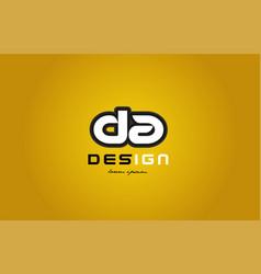 Da d a alphabet letter combination digit white on vector