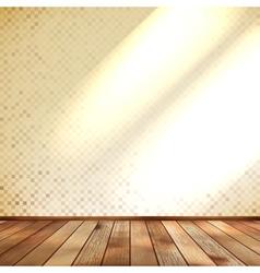 Empty beige wall and wooden floor room eps 10 vector