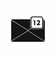 Envelope with 12 messages icon simple style vector image vector image