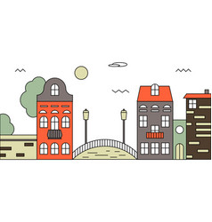 flat design urban landscape vector image