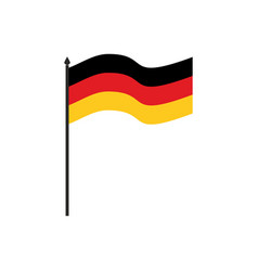 germany flag cartoon style isolated on white vector image