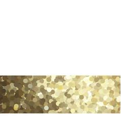 Golden glitter border card vector