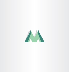 Green logo of letter m icon vector