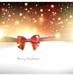Greeting card with red bows and copy space vector