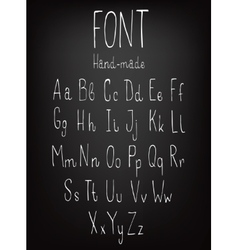Hand-drawn stylish slim font vector image vector image