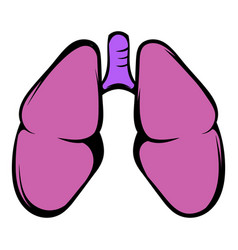 human lungs icon icon cartoon vector image