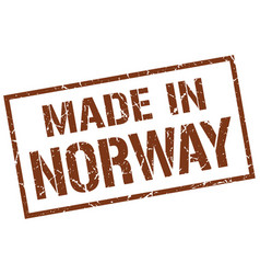 Made in norway stamp vector