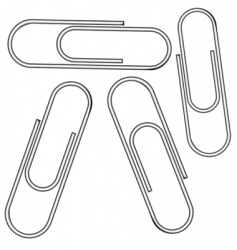 metallic clips vector image