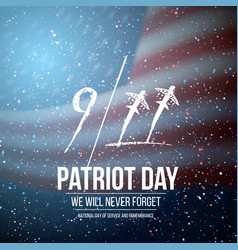 Patriot day poster september 11th tragedy poster vector