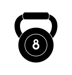 Pictogram kettlebell weight fitness gym icon vector
