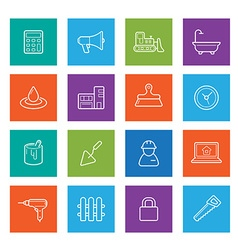 Set of Construction Building Icons Home and Repair vector image vector image