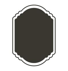 silhouette border heraldic decorative frame vector image