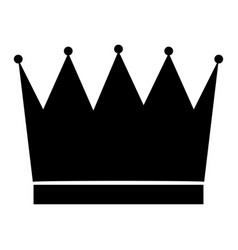 The crown black color icon vector