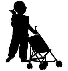 Toddler silhouette vector
