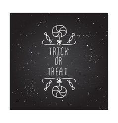 Trick or treat - typographic element vector image